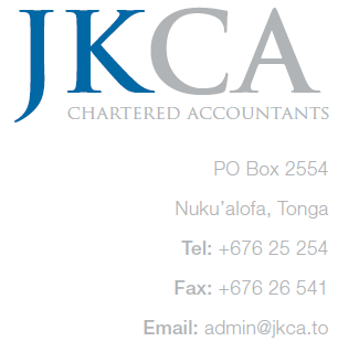 JK Chartered Accountants - Kingdom of Tonga, South Pacific